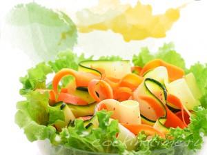 Салат с ванильной заправкой