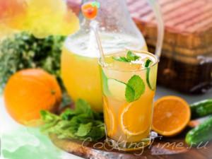 Апельсиново-огуречный лимонад