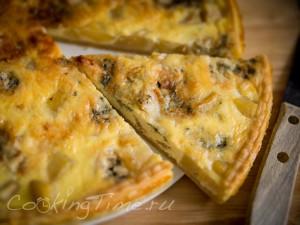 Киш с грушей и рокфором - Quiche au Roquefort