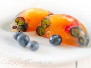 Апельсиново-Грейпфрутовое желе с Ягодами