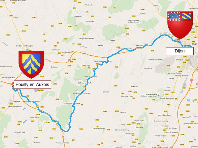 Dijon - Pouilly-en-Auxois - 67 км