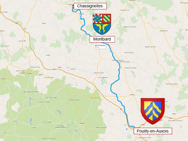 Pouilly-en-Auxois - Montbard - Chassignelles - 90 км