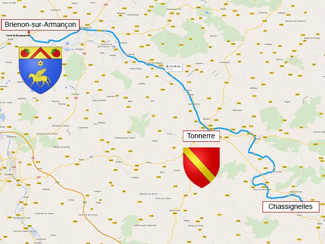Chassignelles - Tonnerre - Brienon-sur-Armançon - 75 км
