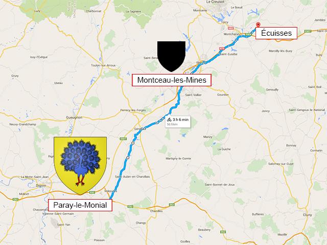 Paray-le-Monial - Montceau-les-Mines - Écuisses