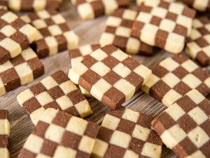 Шахматное Ванильно-Шоколадное Печенье
