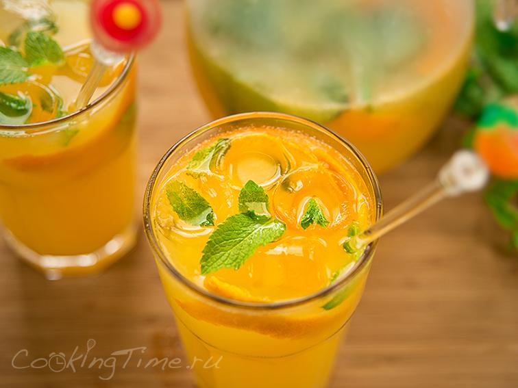 Напиток и апельсина и лимона в домашних условиях