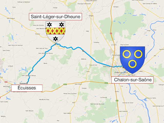 Écuisses - Saint-Léger-sur-Dheune - Chalon-sur-Saône - 43 км