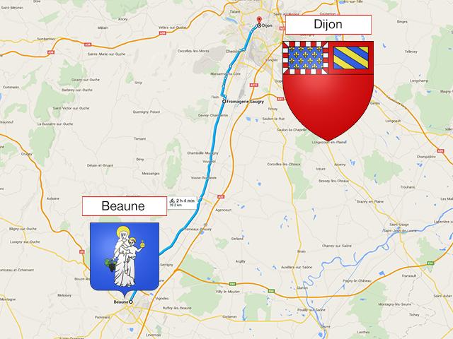 Beaune - Dijon - 45 км