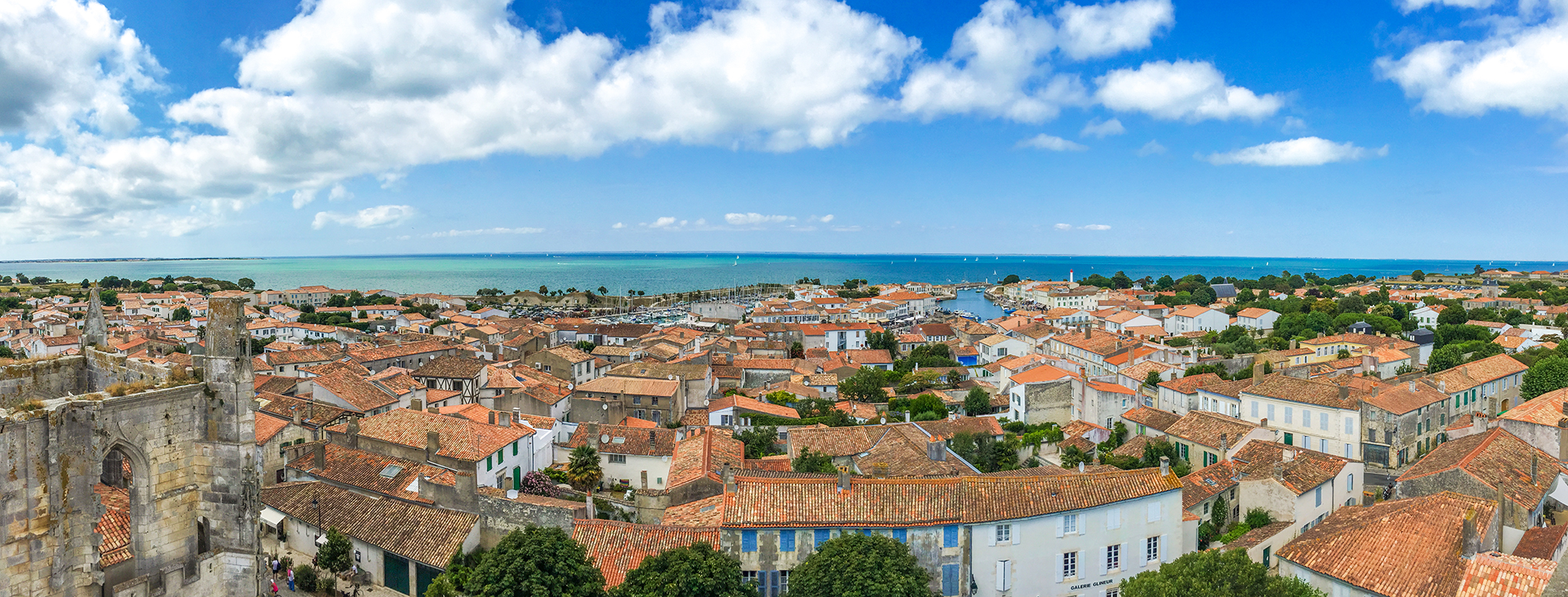 Панорама Сен-Мартен-де-Рé  (кликнув, можно увеличить)