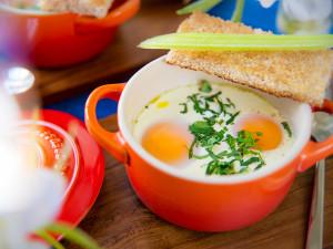 Яйца в Кокотнице со Сливками