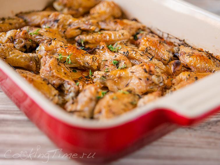 крылья в медовом соевом соусе в духовке рецепт