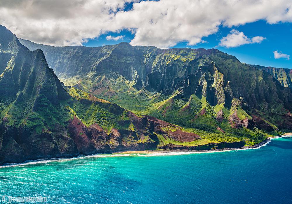 Гавайи с высоты птичьего полёта...
