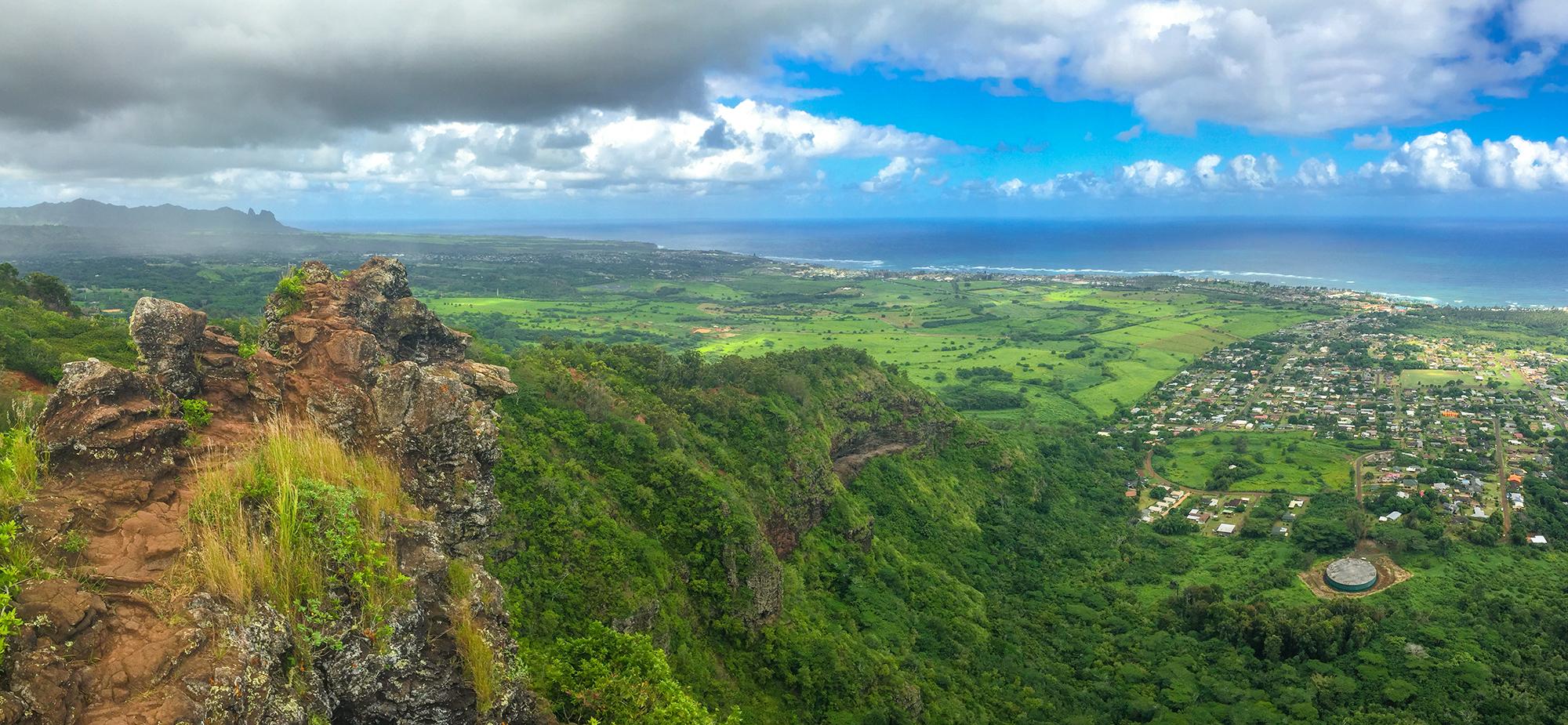 Вид на остров Кауаи