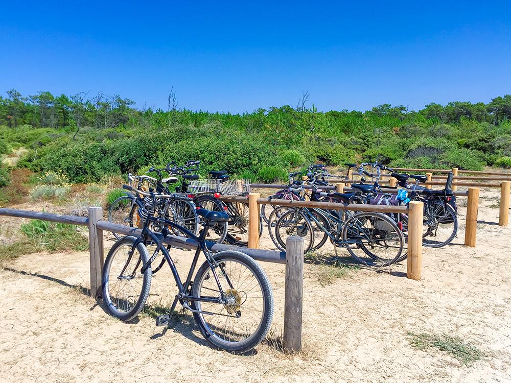 Пляжная велопарковка