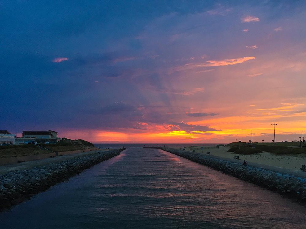 Прекраснейший закат в Мимизане