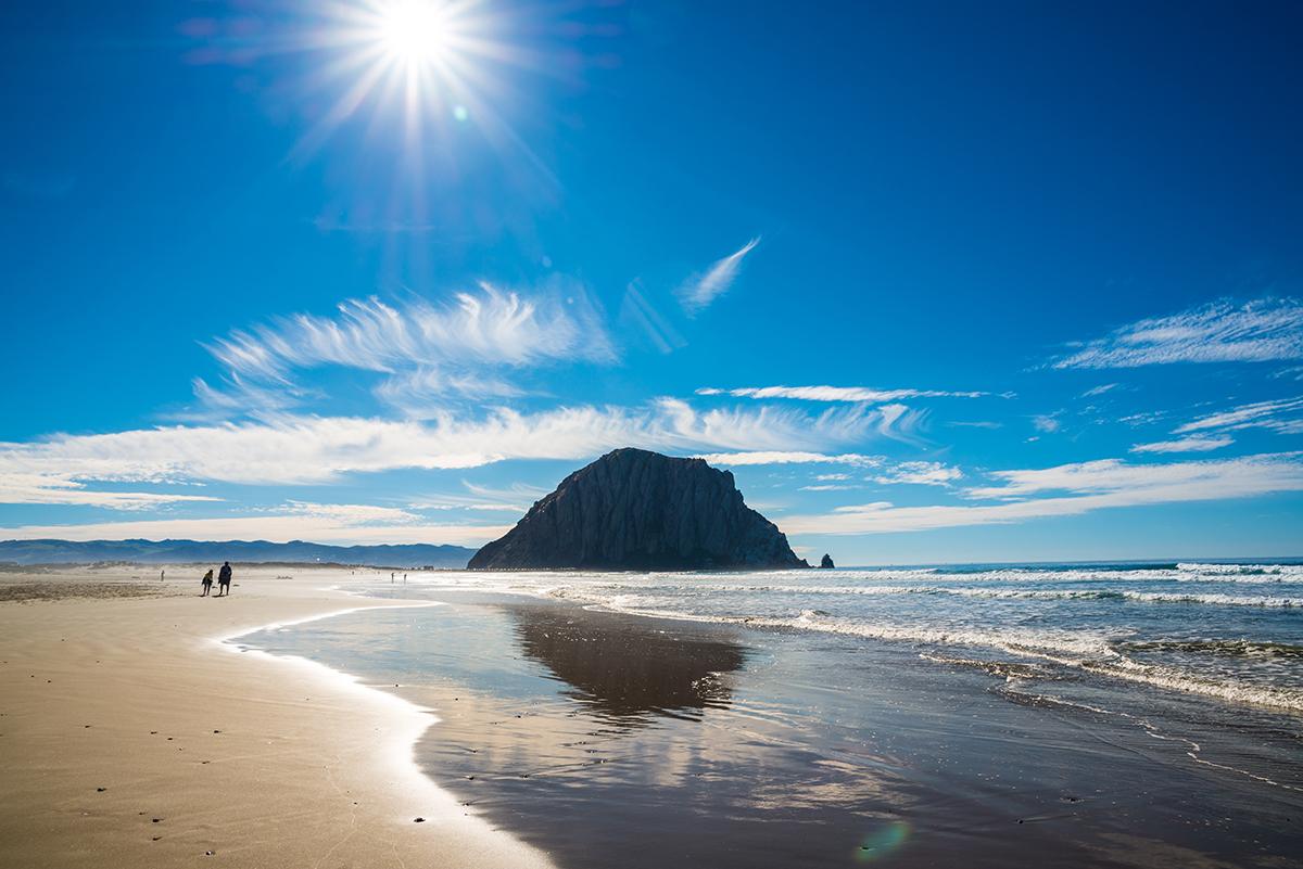 Пляж Морро-Бэй