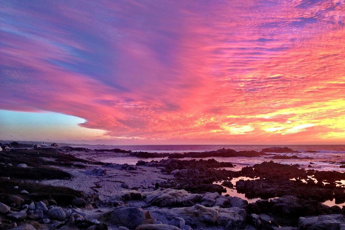 Невероятной красоты закат в Пасифик Гроув