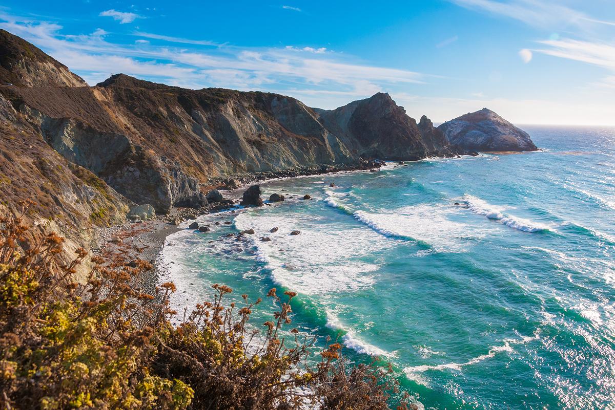 Живописное калифорнийской побережье