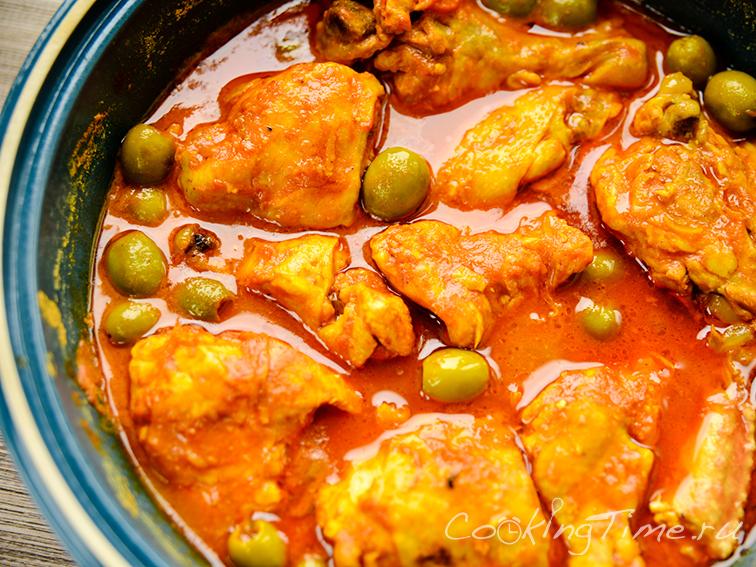 Тажин с Курицей в Томатном соусе