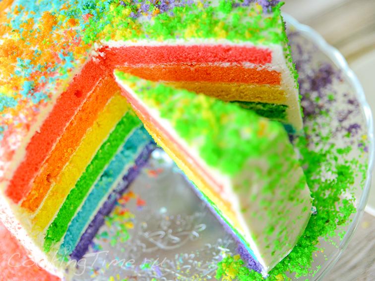Радужный Торт - Rainbow Cake