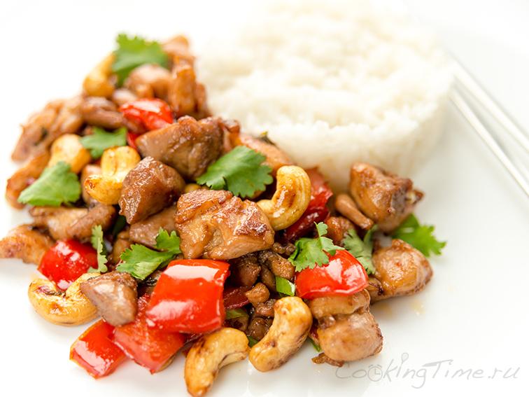 Вок Курица с Кешью - Wok Chicken Cashews
