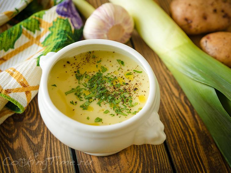 Суп-Пюре с Пореем и Картофелем