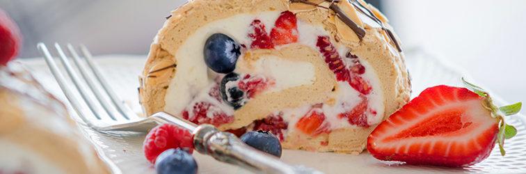 Торт-Рулет Павлова — Pavlova Roll Cake